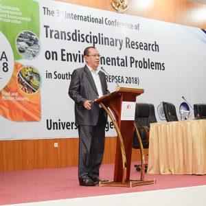 Prof. Dr. Syamsu Qamar Badu, Rector of UNG's Opening Speech