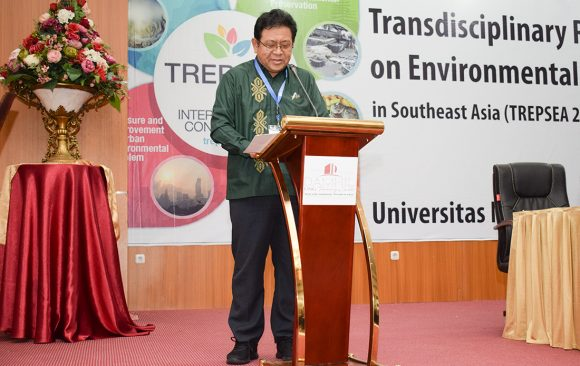 Prof. Masayuki Sakakibara gave his opening speech at TREPSEA2018
