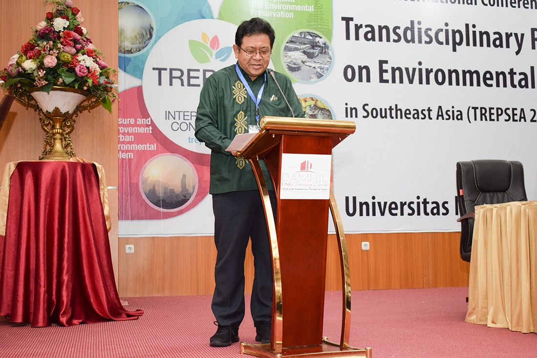 Prof. Masayuki Sakakibara gave his opening speech at TREPSEA2018